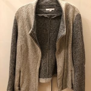 Heather Grey Contrast Sleeve Jacket